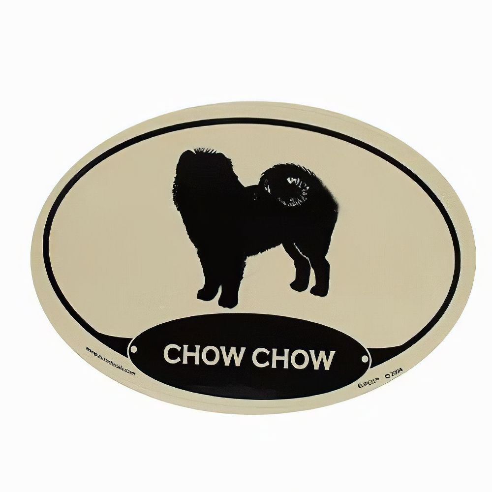 Euro Style Oval Dog Decal Chow Chow