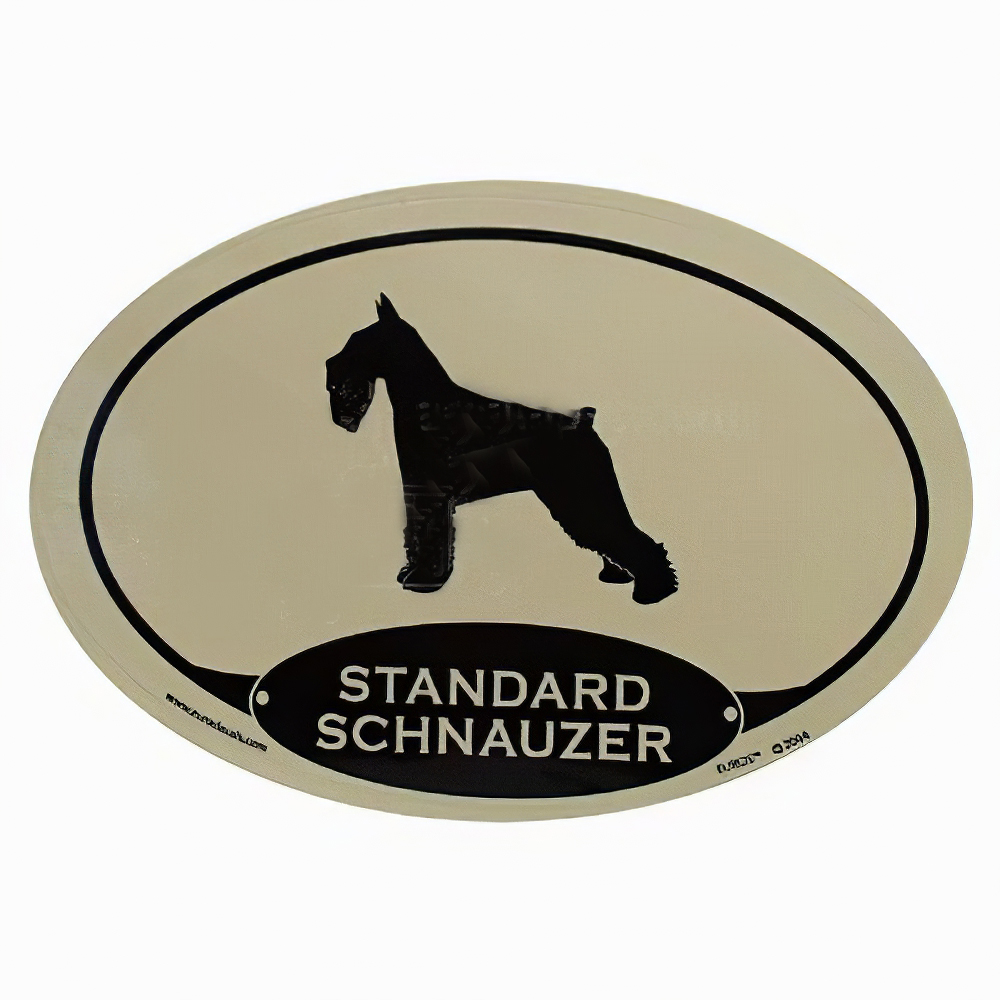 Euro Style Oval Dog Decal Standard Schnauzer