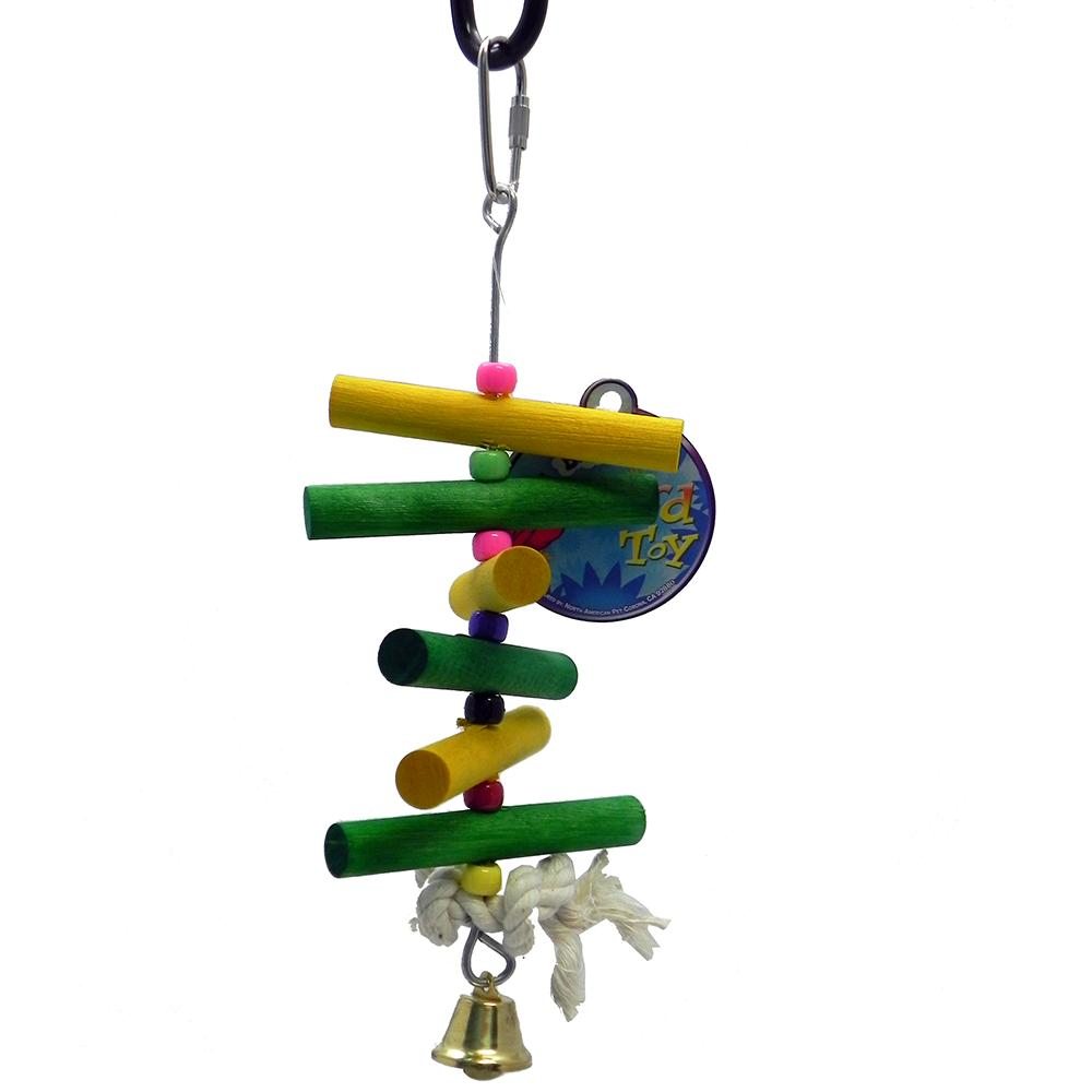 Bird Brainers Wood Dowels and Beads Bird Toy