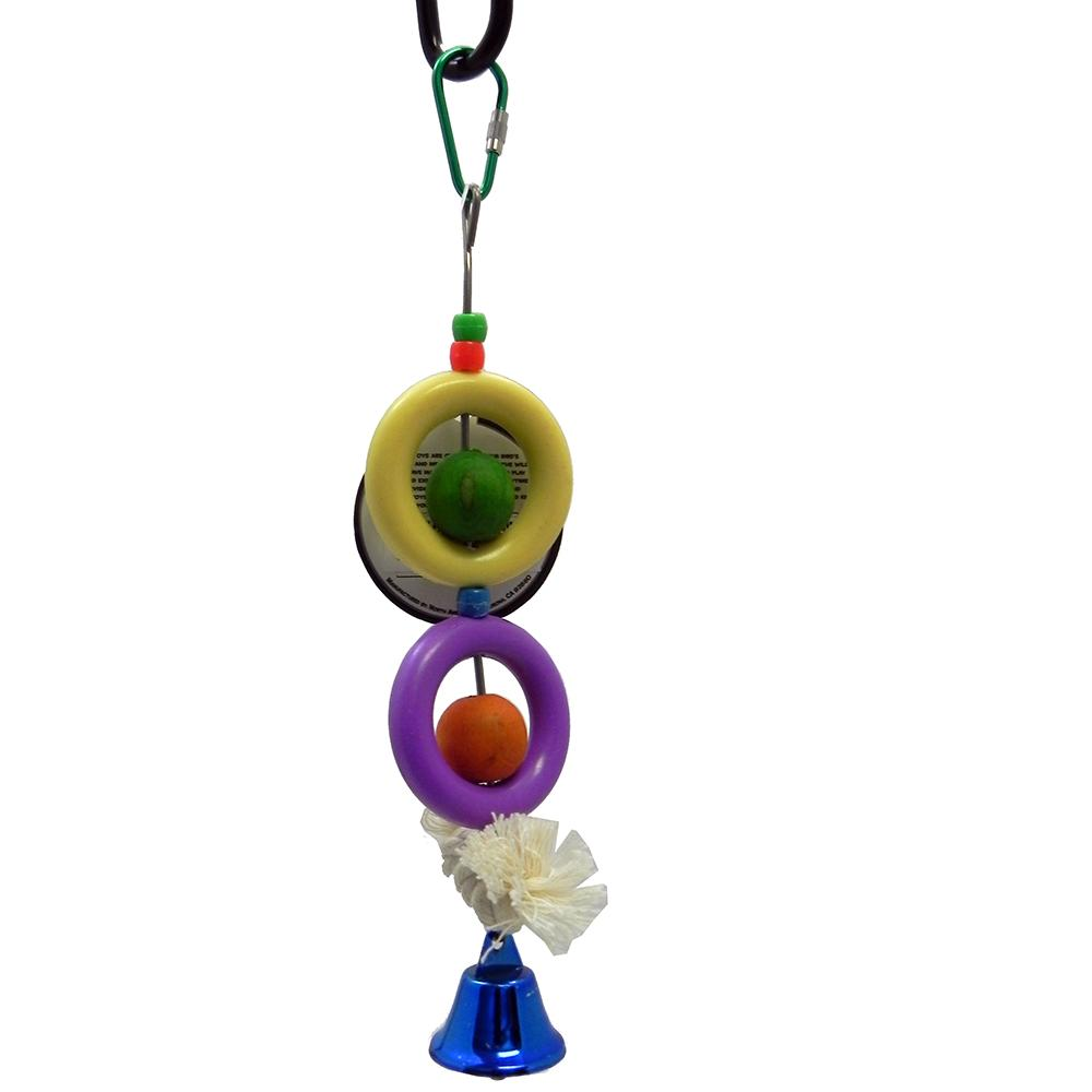 Bird Brainers Fun Rings w/ Bell Bird Toy