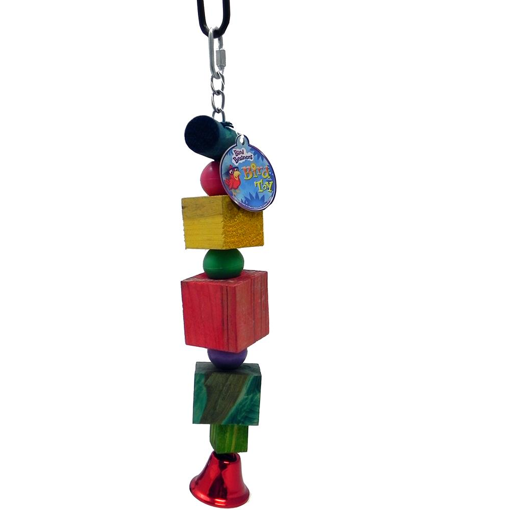 Bird Brainers Wood Chunk with Bell Large Bird Toy