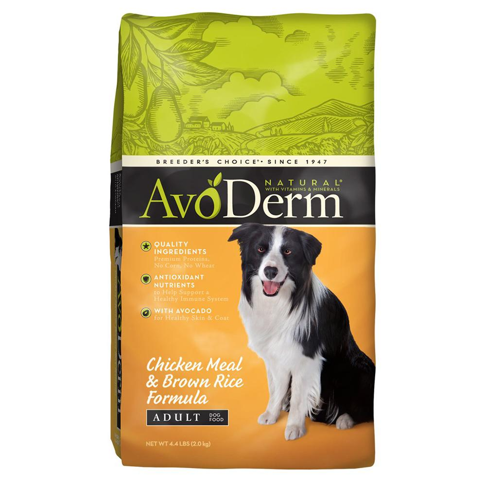 AvoDerm Natural Chicken & Rice Dog Food 4.4 lb