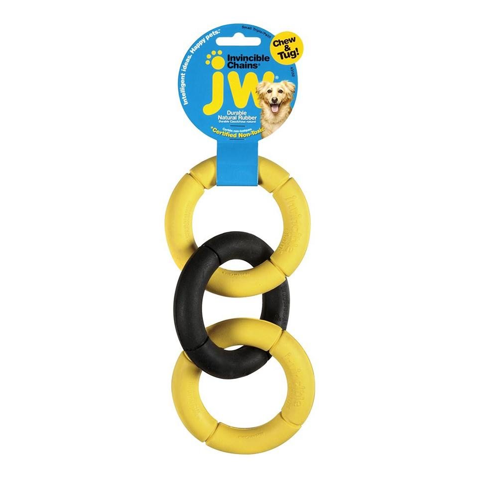 Invincible Chains Rubber Dog Toy Small
