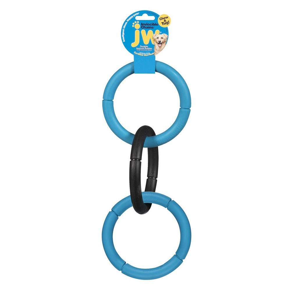 Invincible Chains Rubber Dog Toy Large