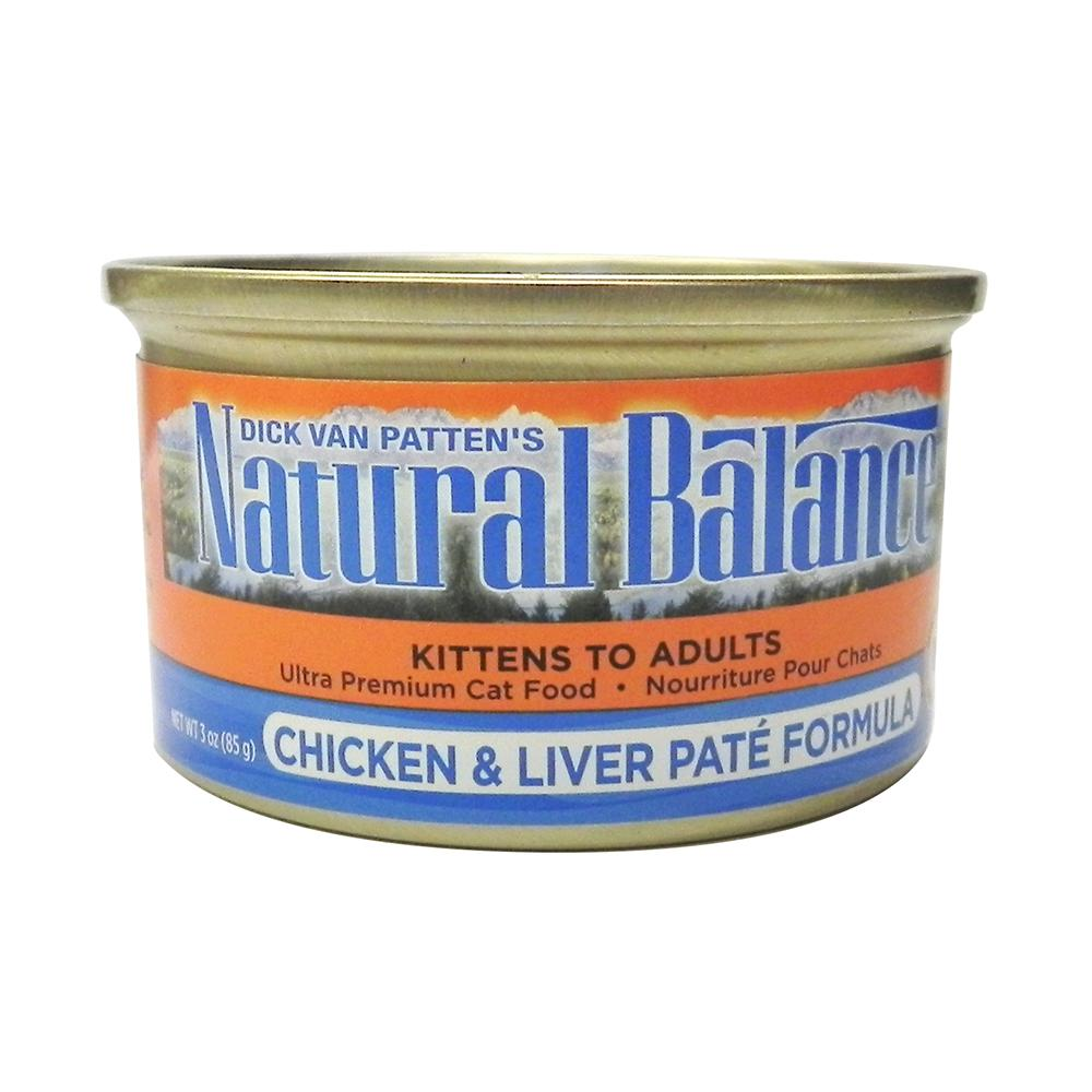Natural Balance Chicken & Liver Pate Can Cat Food Single