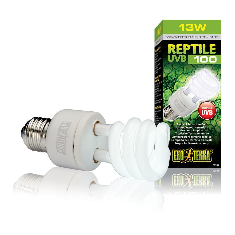 Exo Terra Reptile UVB 100 Terrarium Lamp 13 watt