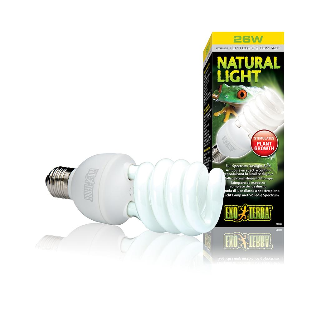 Exo Terra Natural Light Full-Spectrum Terrarium Lamp 26 watt