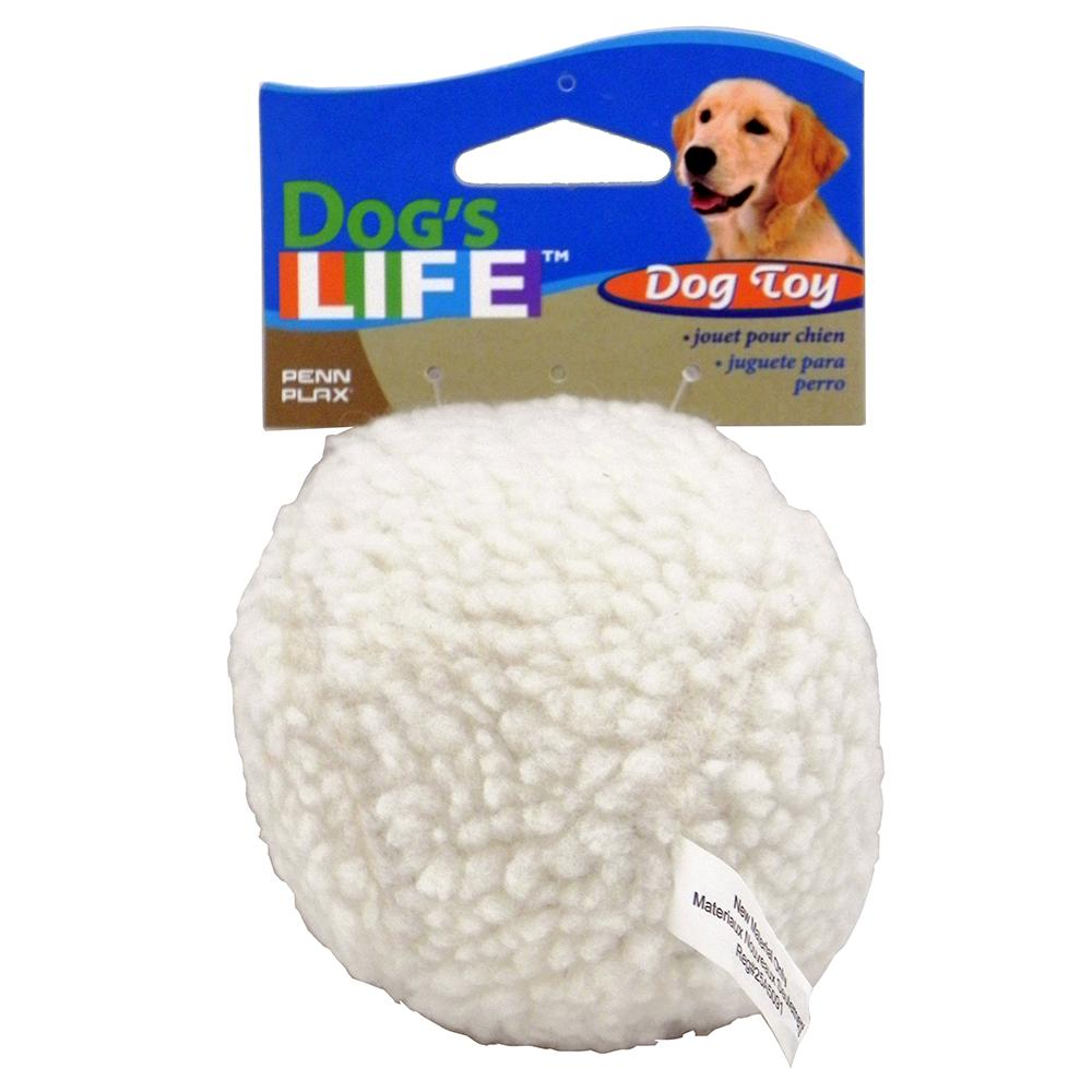 Fleece Ball 4-inch Dog Toy with Squeaker
