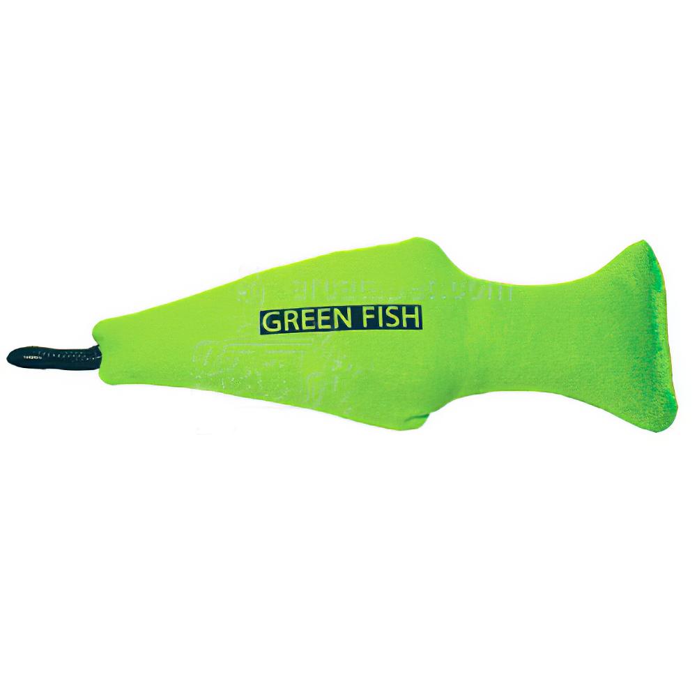 Yeowww! Green Catnip Fish Cat Toy