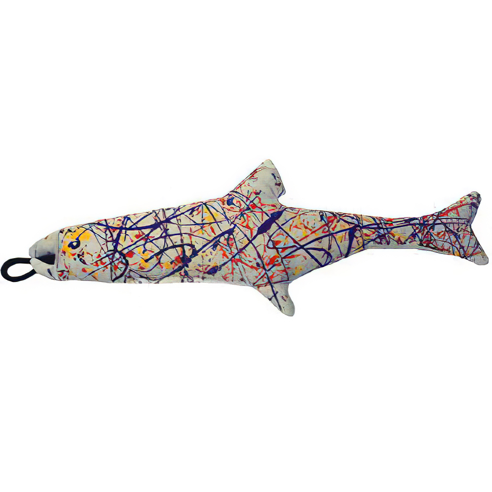 Yeowww! Catnip Jackson Pollock Fish Cat Toy