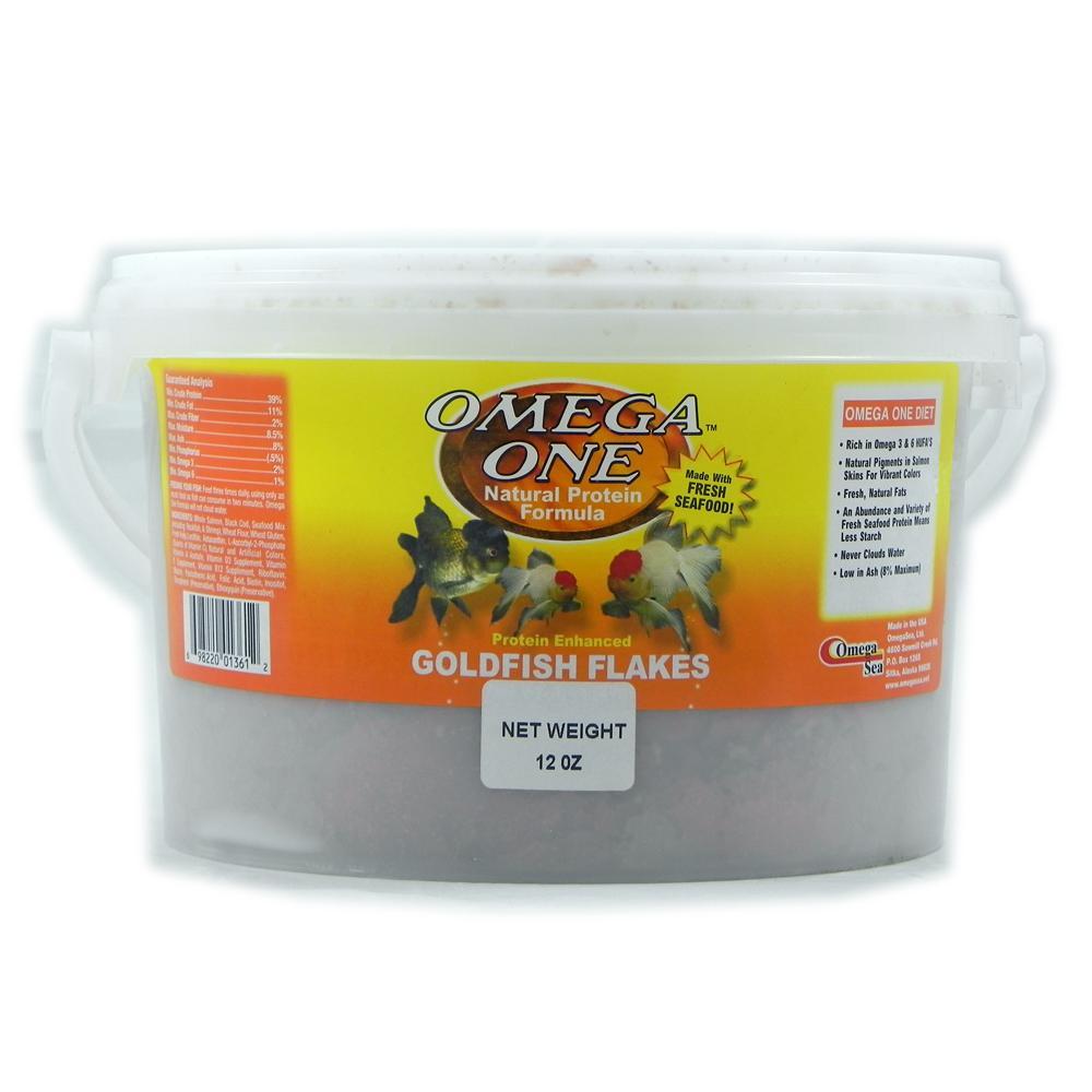 Omega one goldfish flakes fish food 12 oz aquar food for Omega one fish food