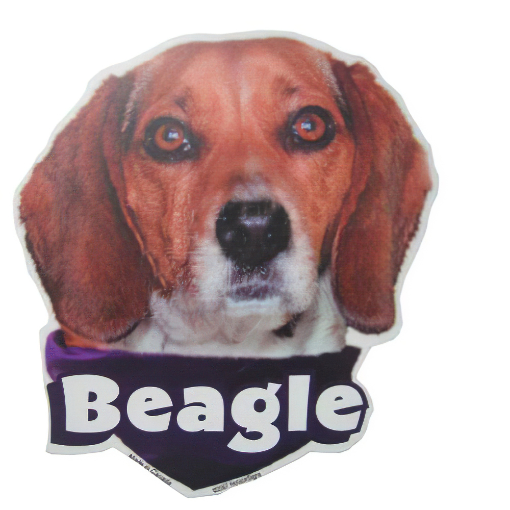 6-inch Vinyl Dog Decal Beagle Picture