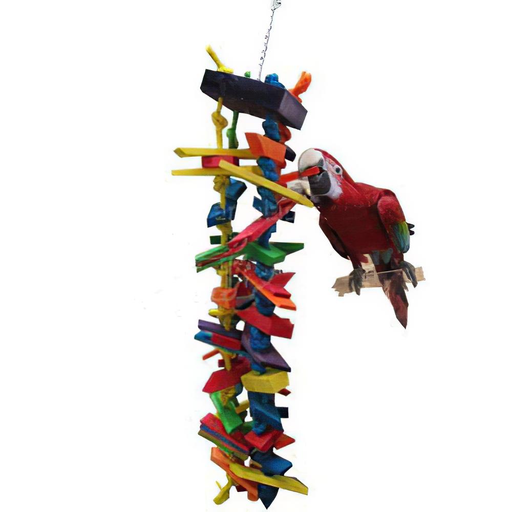 Bird Brainers Strings of Wood Bird Toy
