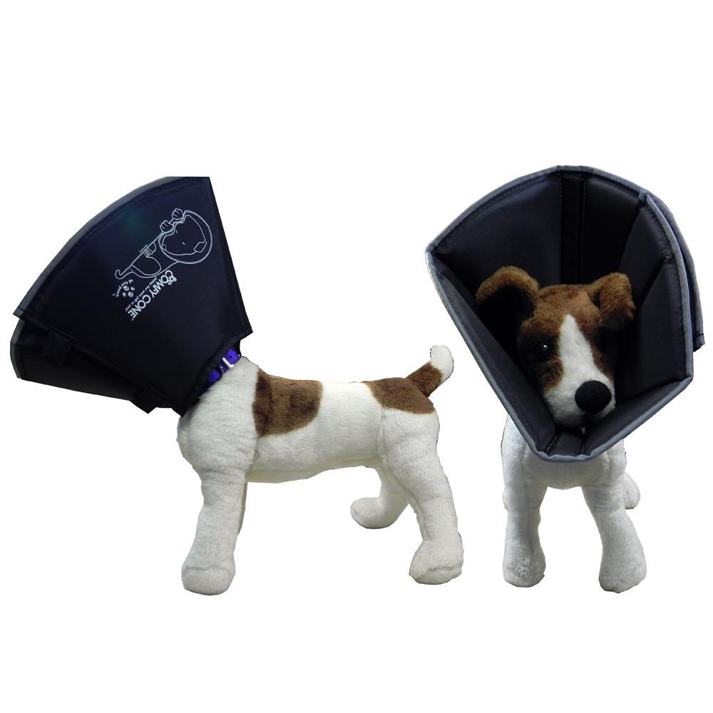 Comfy Cone Soft E-Collar Large Black 25 cm
