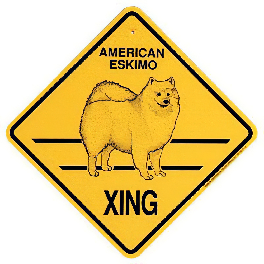 Xing Sign American Eskimo Plastic 10.5 x 10.5 inches