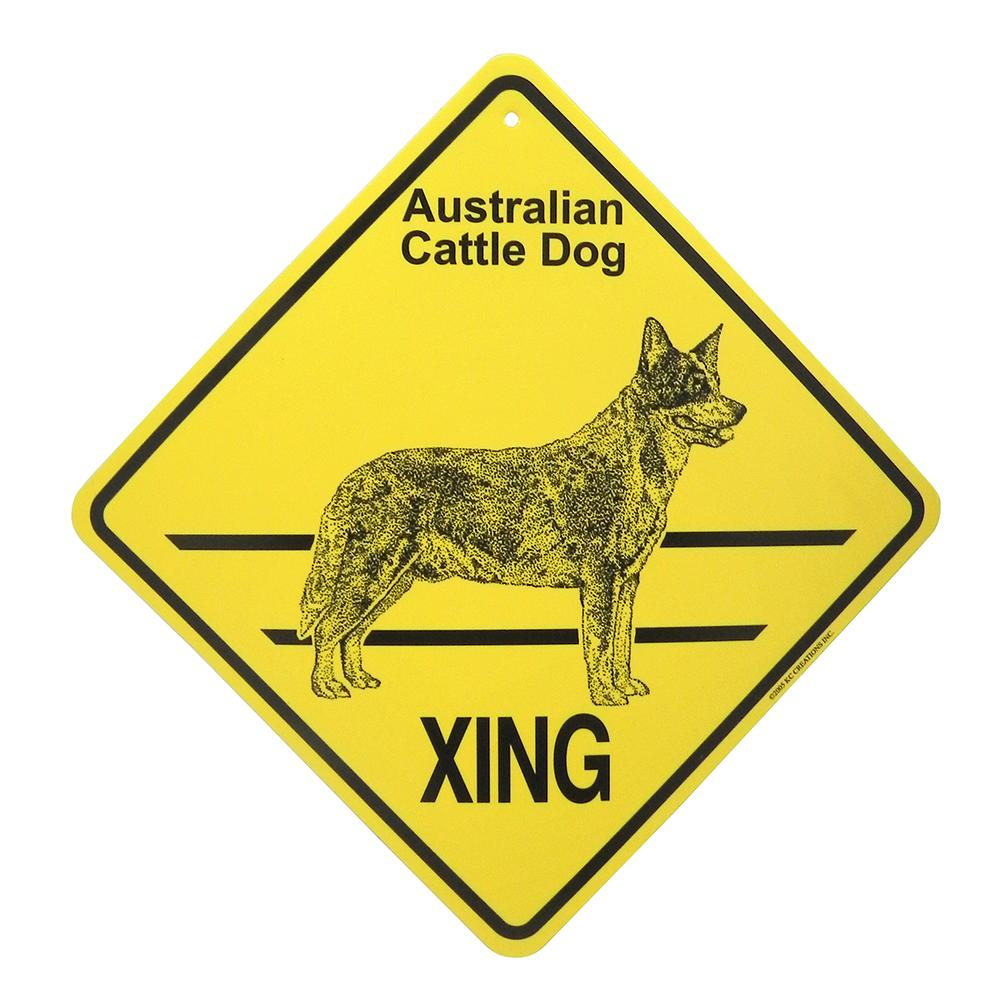 Xing Sign Australian Cattle Dog  Plastic 10.5 x 10.5 inches