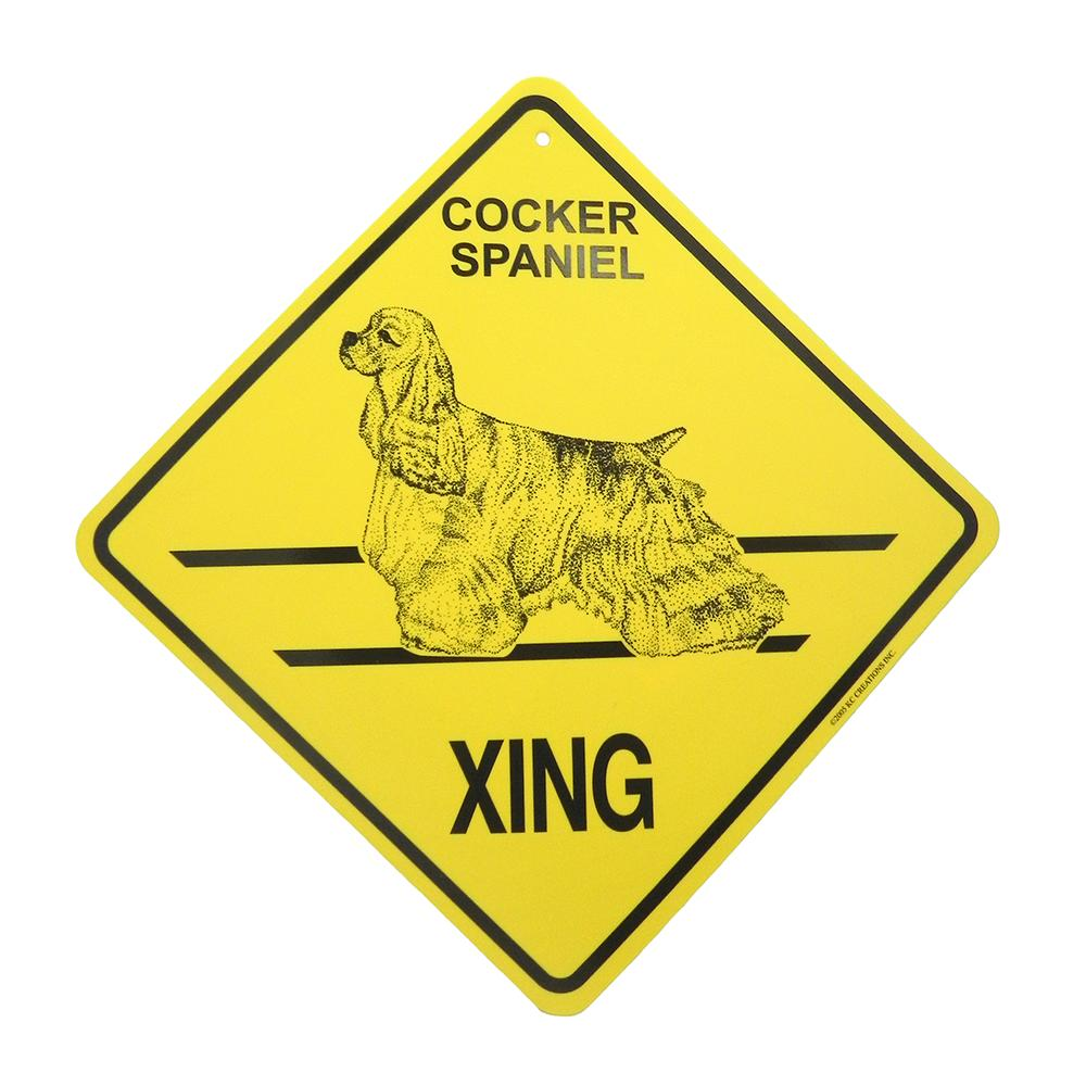 Xing Sign Cocker Spaniel Plastic 10.5 x 10.5 inches