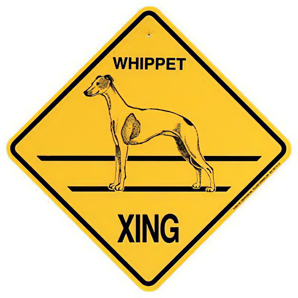 Xing Sign Whippet Plastic 10.5 x 10.5 inches