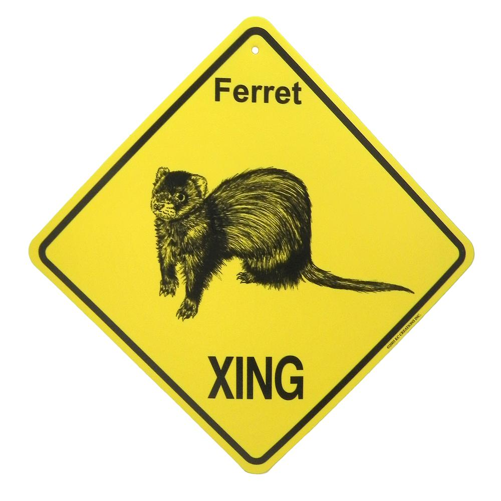 Crossing Sign Ferret Xing