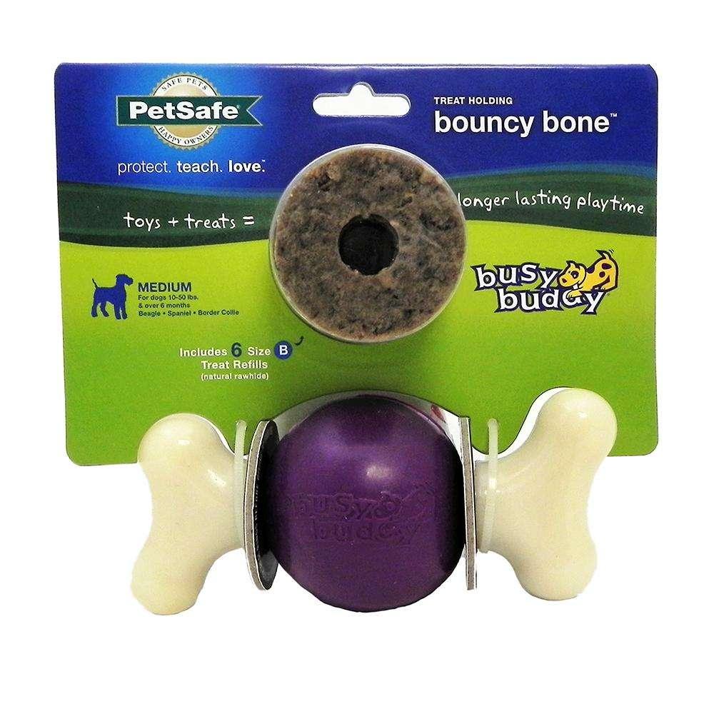 Busy Buddy Bouncy Bone Medium Treat Dispensing Dog Toy