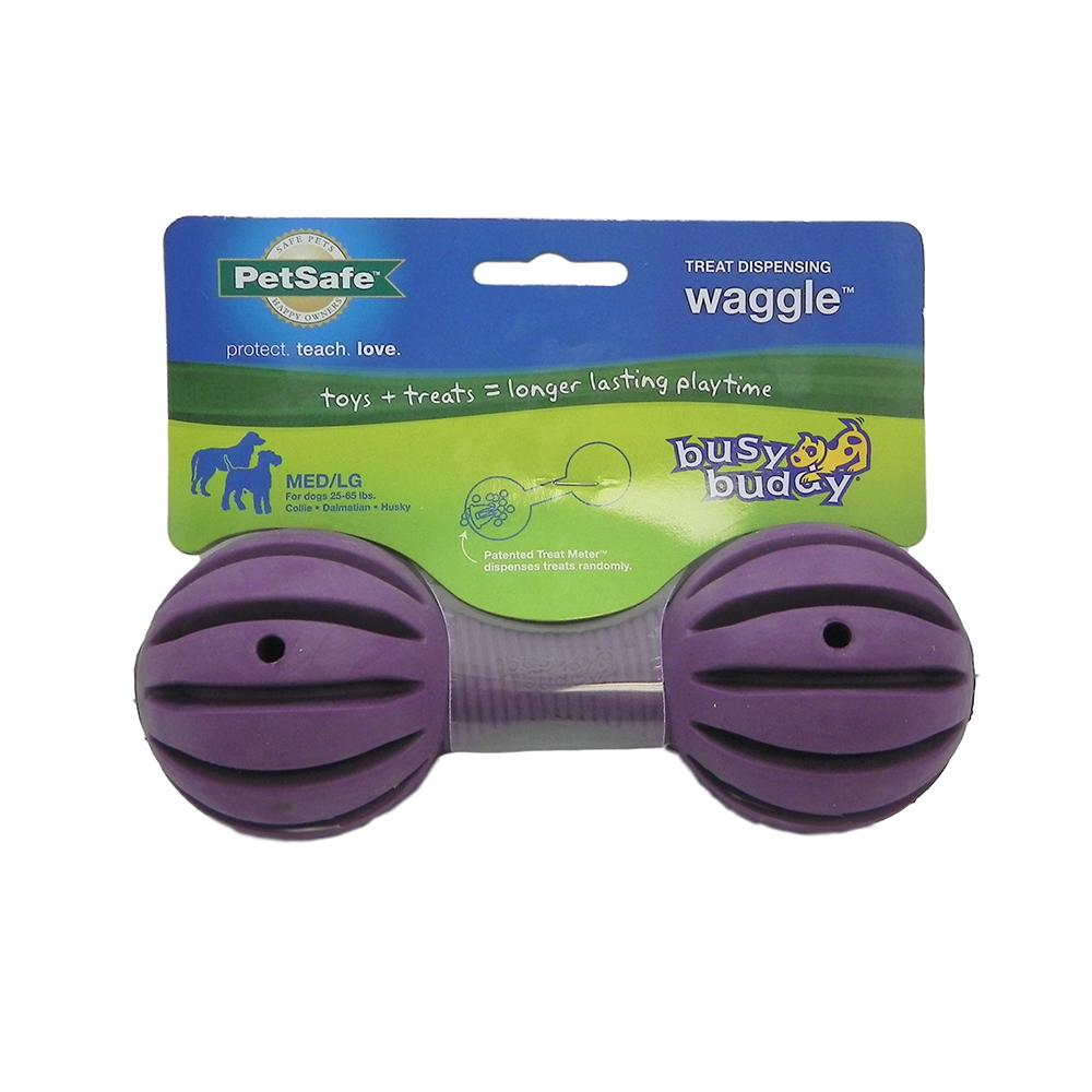 Waggle Med/Large Flexible Dog Toy and Treat Dispenser