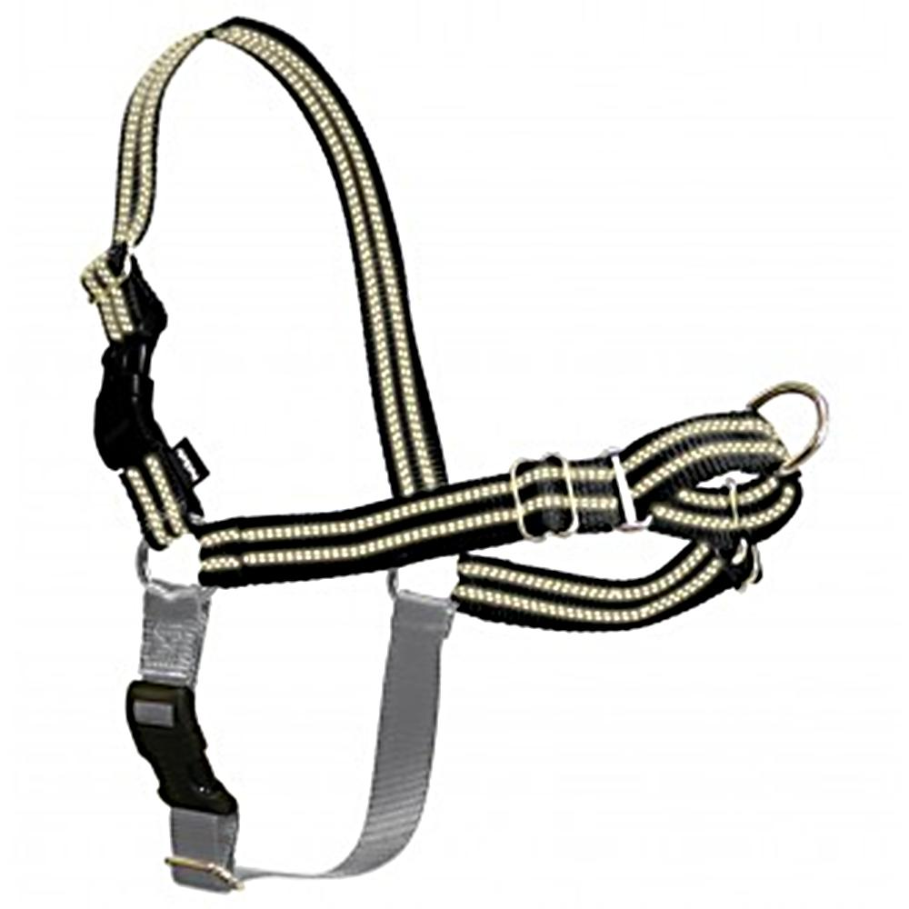 Gentle Leader Reflective EasyWalk Dog Harness/Leash Md Black