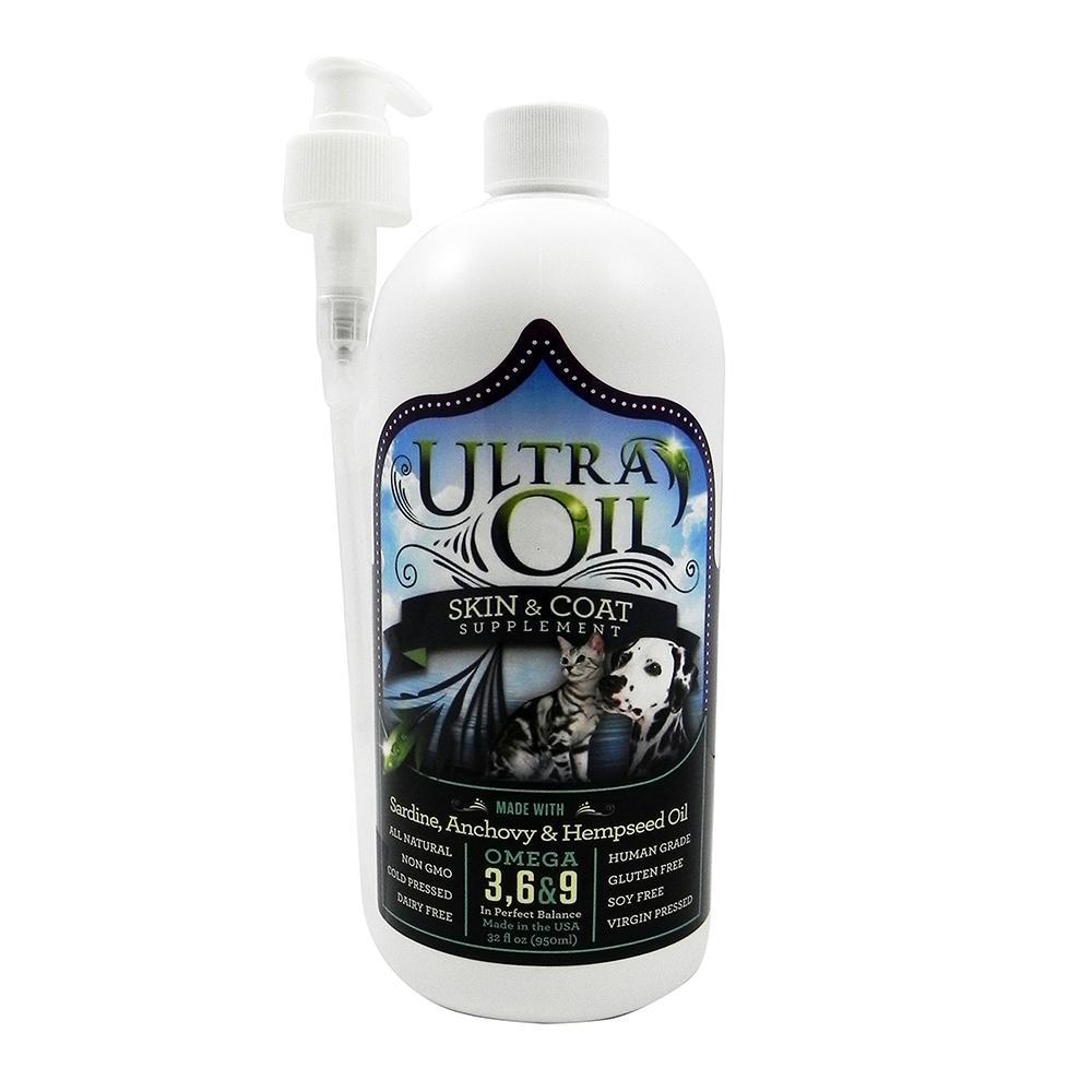 Ultra Oil Hemp Pet Skin & Coat Supplement 32 oz.