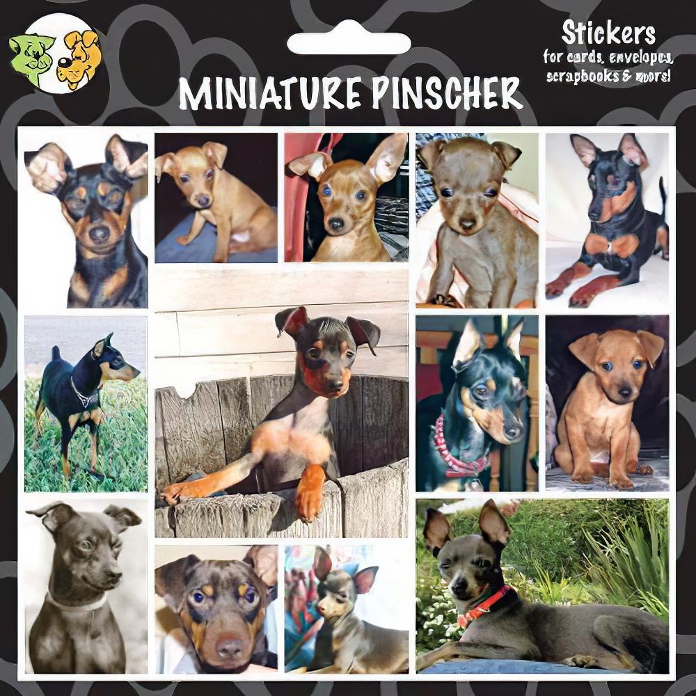 Arf Art Dog Sticker Pack Miniature Pinscher