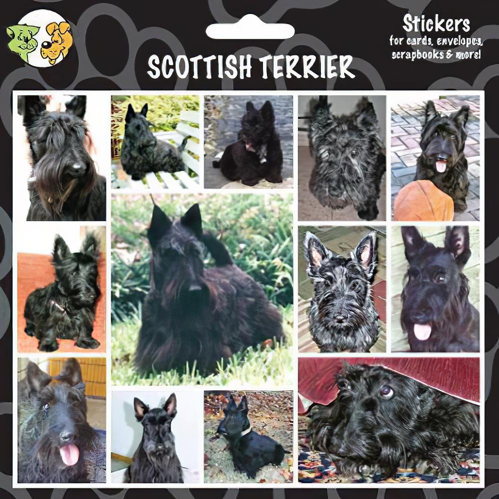 Arf Art Dog Sticker Pack Scottish Terrier