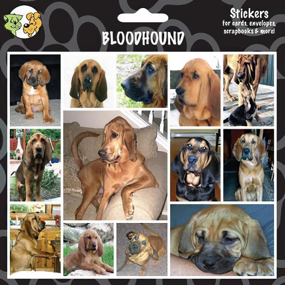 Arf Art Dog Sticker Pack Bloodhound