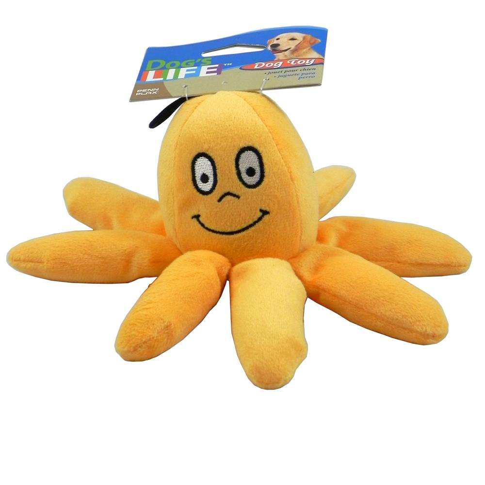 Plush Velvet Octopus Dog Toy Small