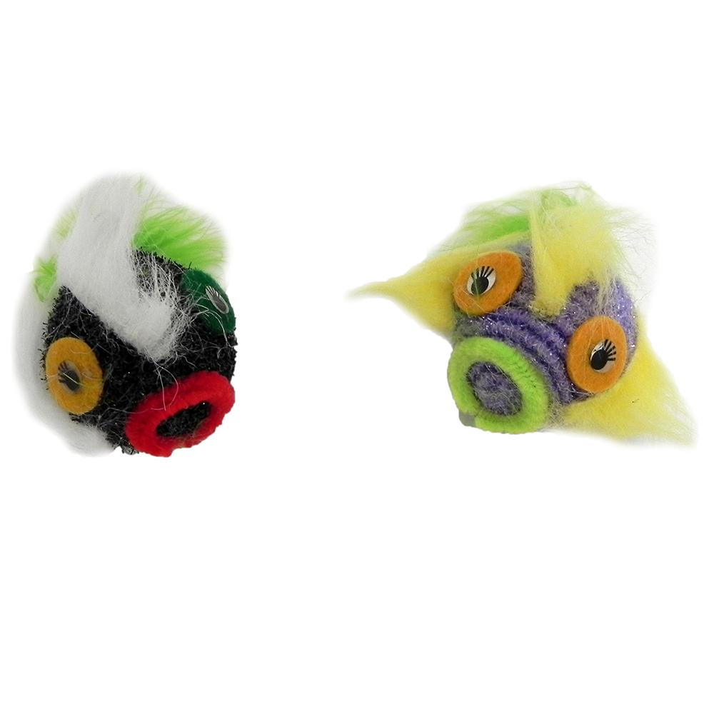 Purr-Pet Sisal Critters-2 pack or 3 pack Cat Toys