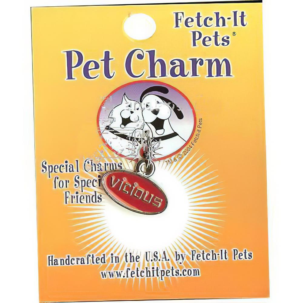 Pet Tag Collar Charm Vicious