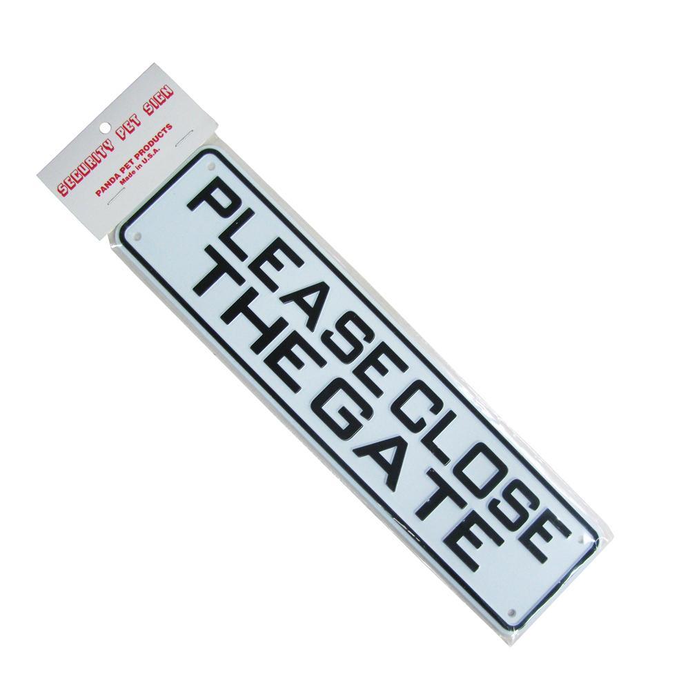 Sign Please Close the Gate 12 x 3 inch Plastic