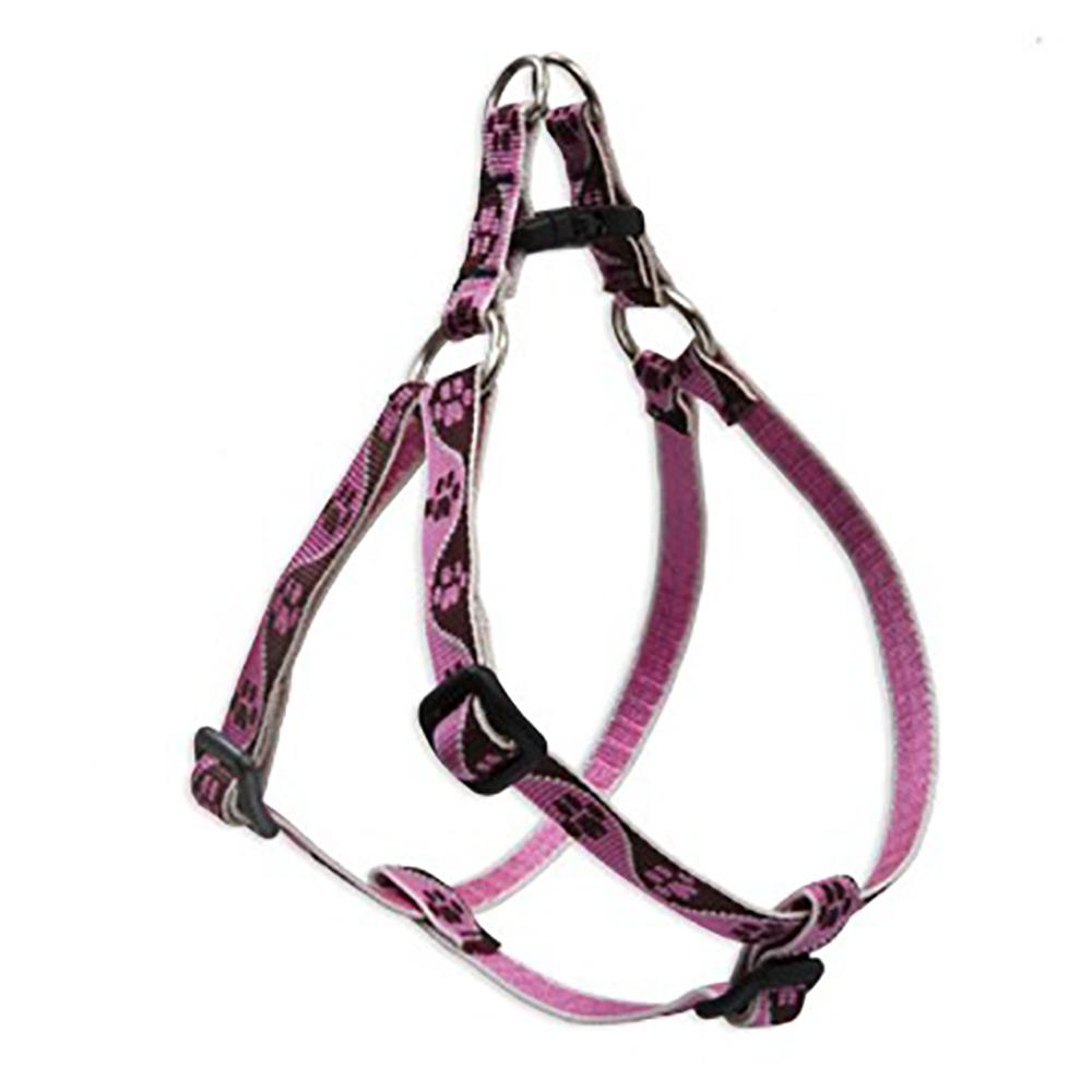 Nylon Dog Harness Step In Tickled Pink 12-18 inches