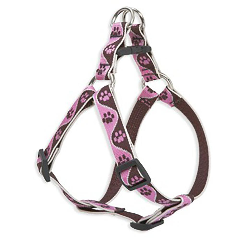 Nylon Dog Harness Step In Tickled Pink 15-21 inches