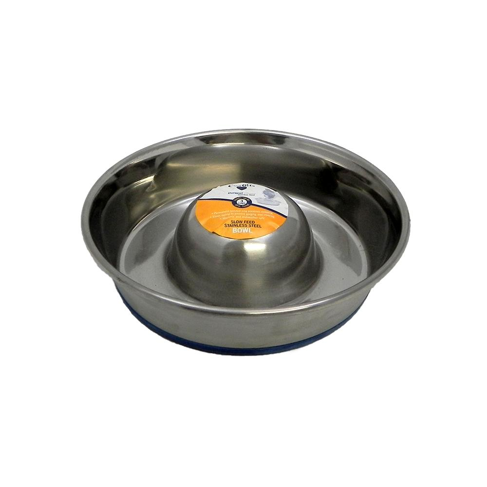 Stainless Slow Feed Dog Bowl Small
