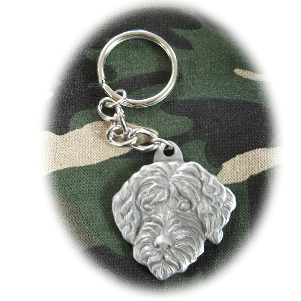 Pewter Key Chain I Love My Portuguese Water Dog