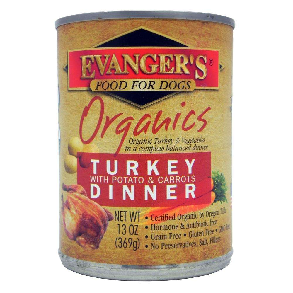 Evanger's Organic Turkey Potato Carrot Canned Dog Food 13oz