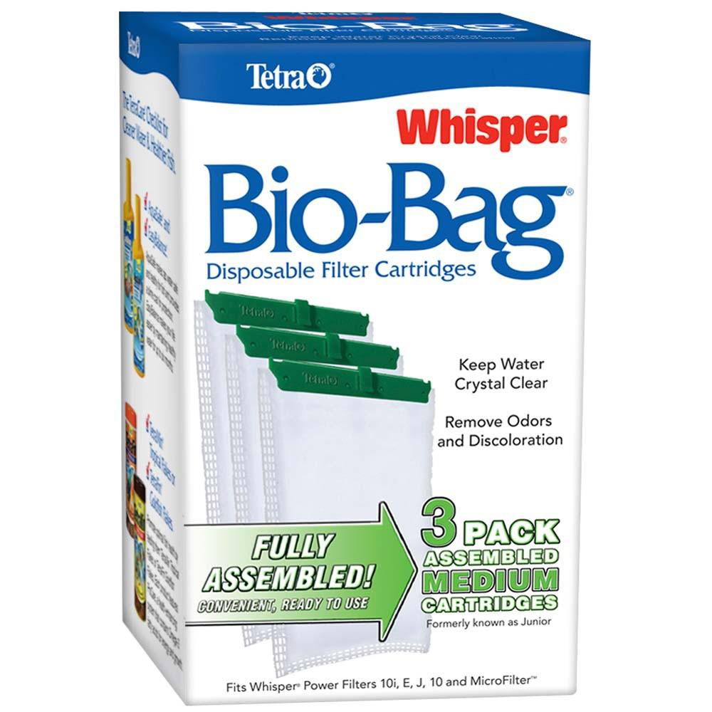 Whisper Aquarium Power Filter Bio-Bag Medium 3-pack