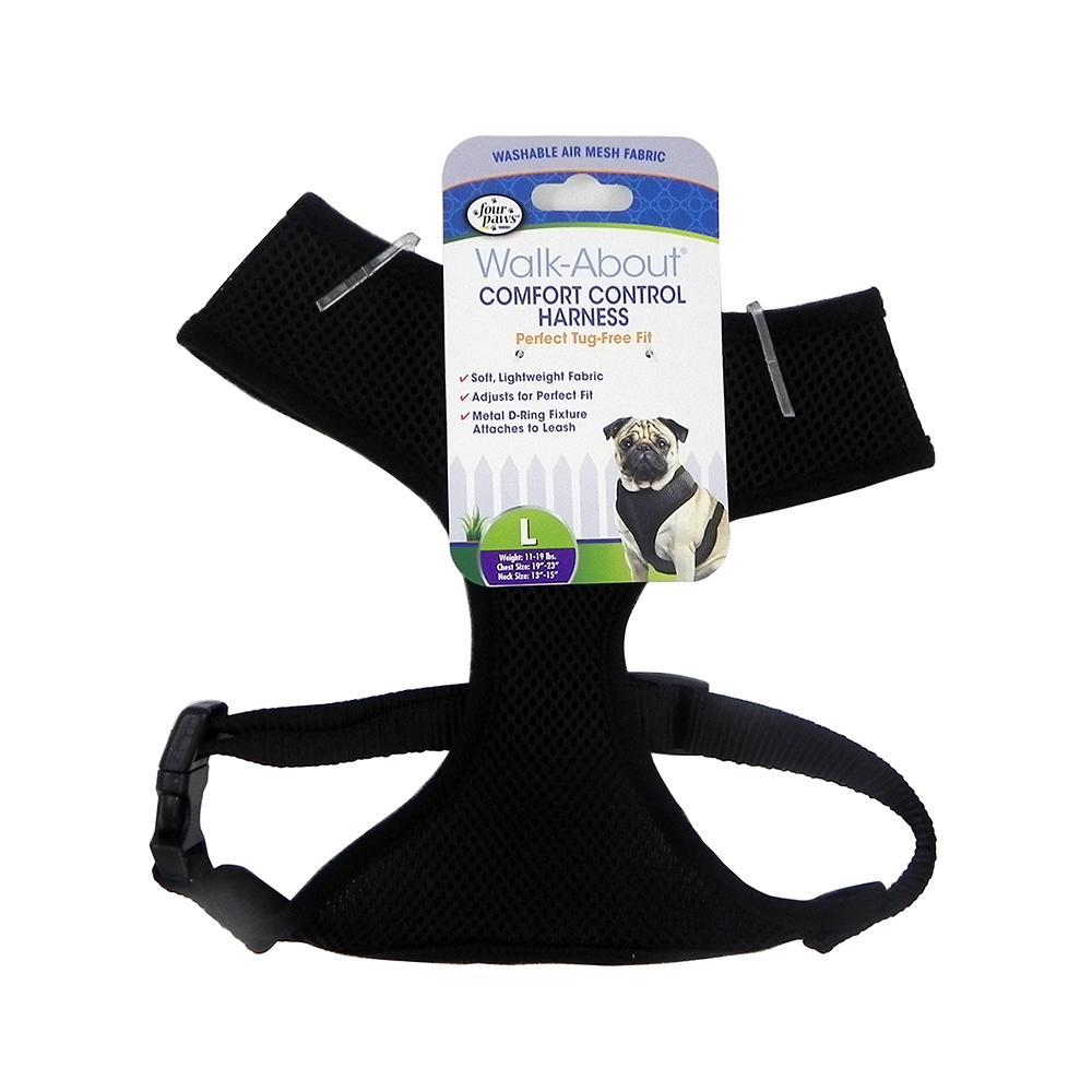 Comfort Control Dog Harness Black Large