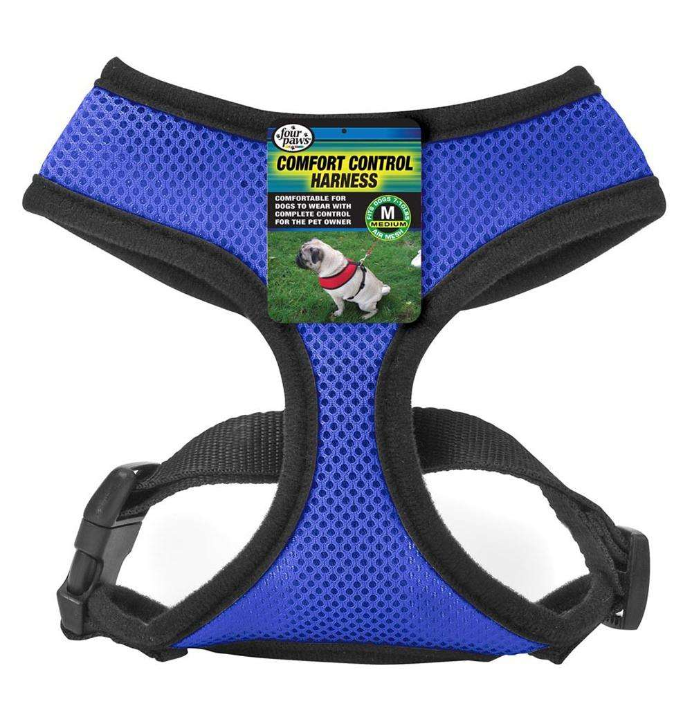 Comfort Control Dog Harness Blue Medium