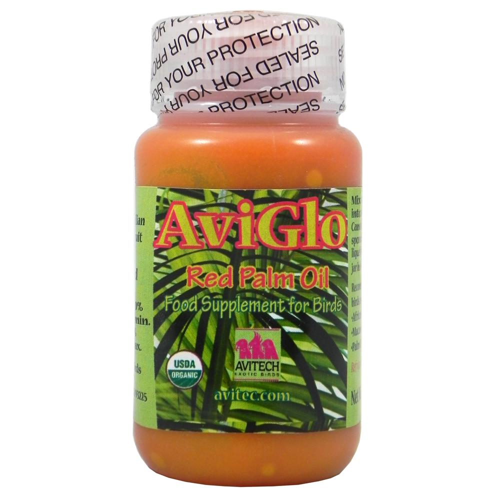 AviGlo 100% Organic Red Dende Palm Oil 4oz for Birds