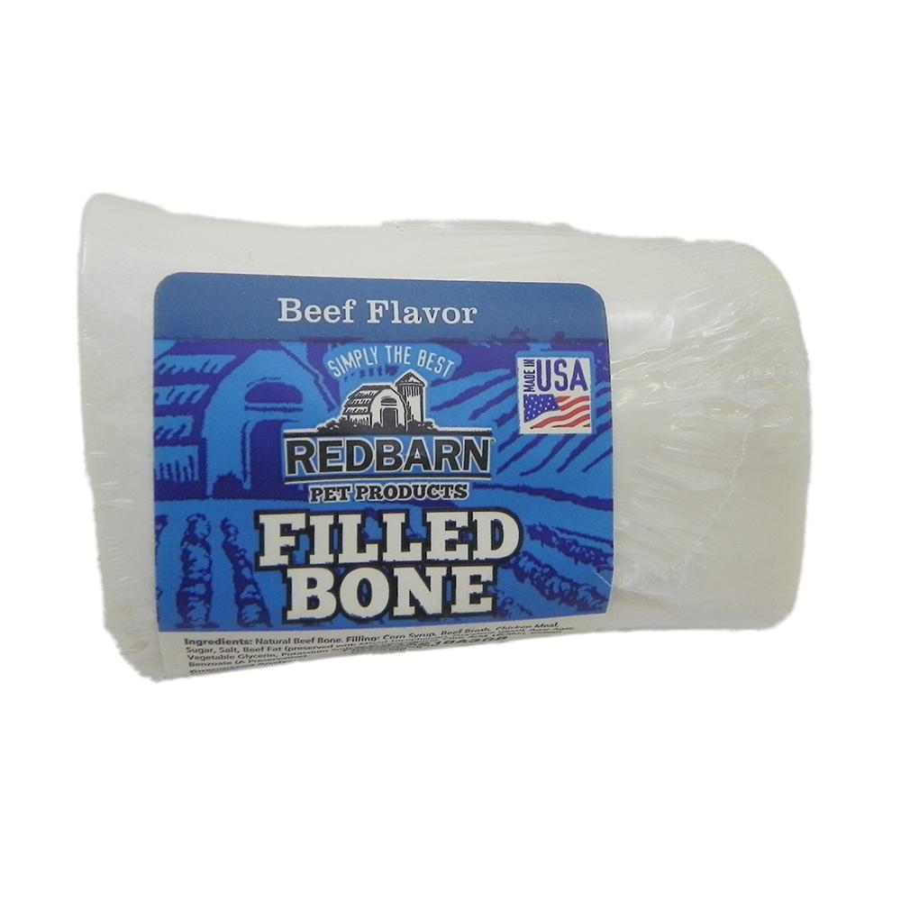 Natural Beef Bone 3 inch Filled with Edible Paste Dog Chew