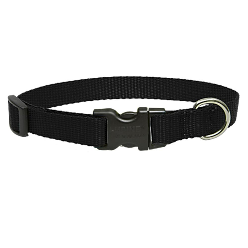 Lupine Nylon Dog Collar AdCollar Adjustable Black 15-25 inch