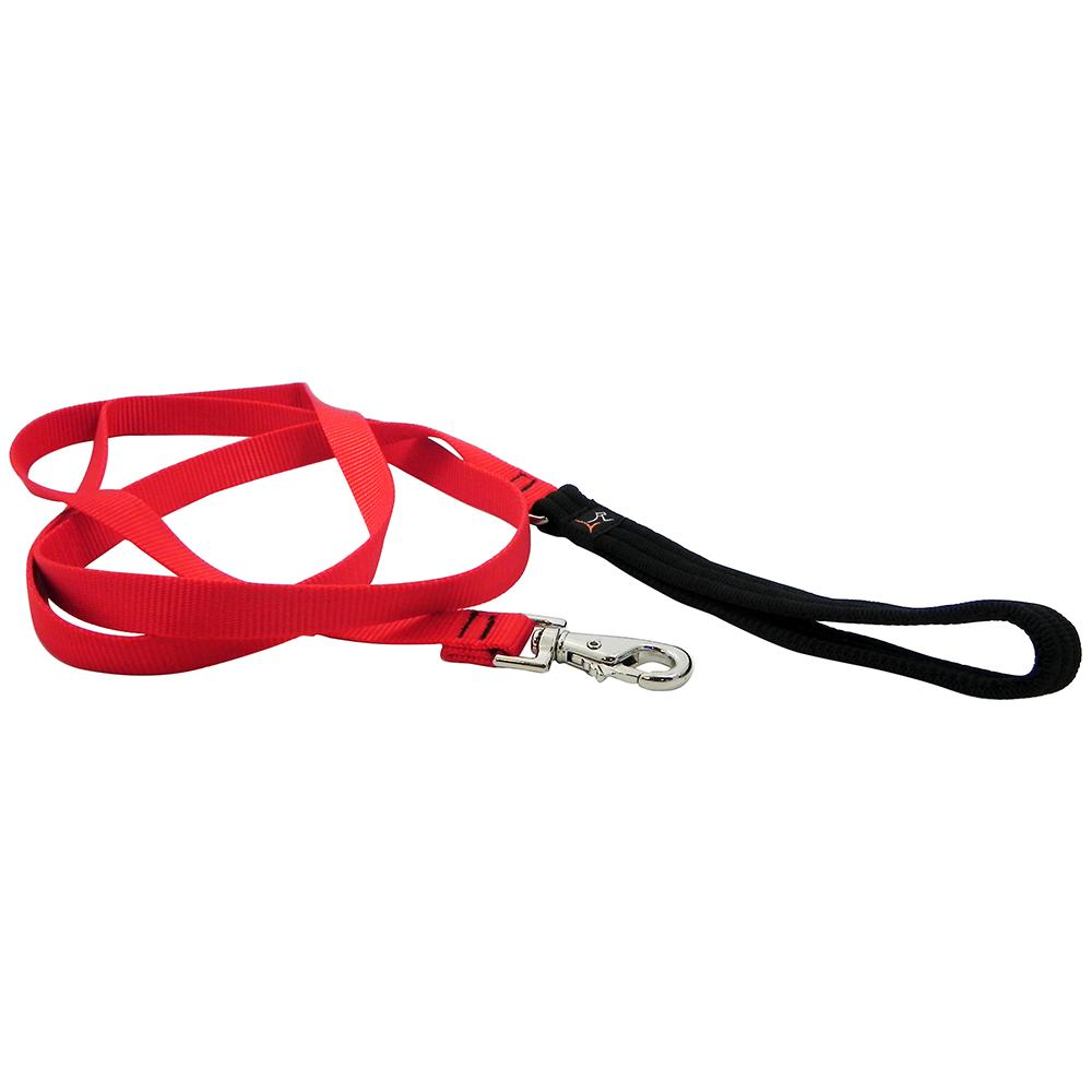 Lupine Nylon Dog Leash 6-foot x 3/4-inch Red