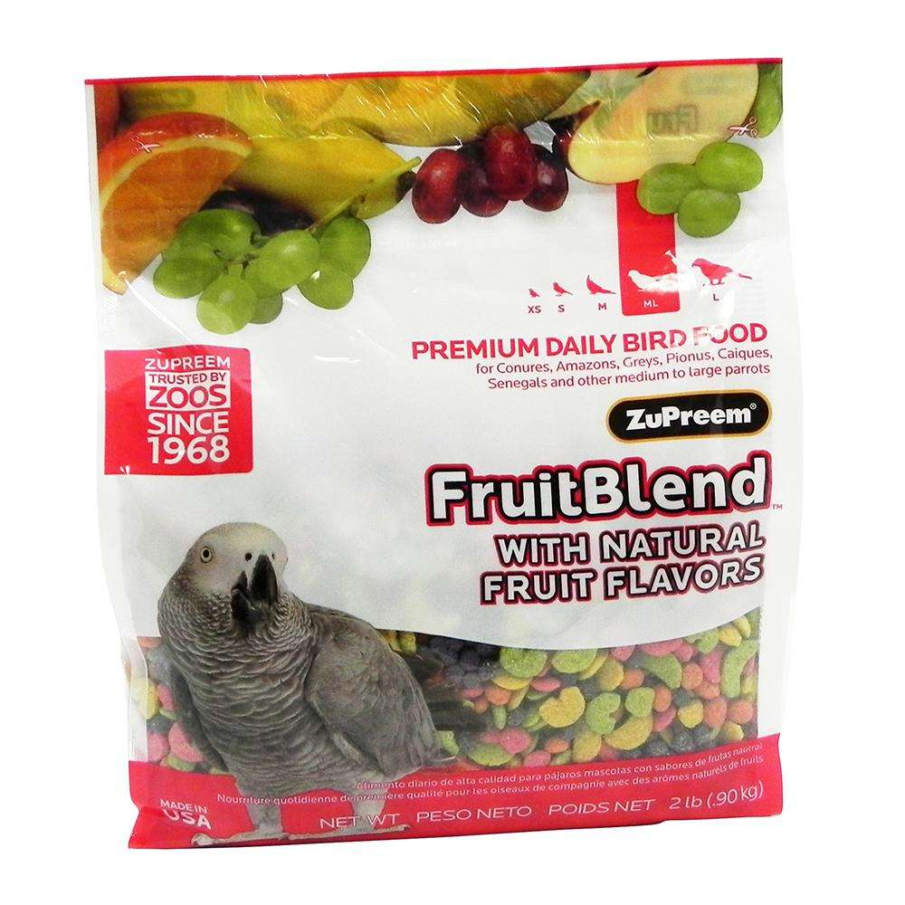ZuPreem Fruit Blend Parrot Food 2 pound