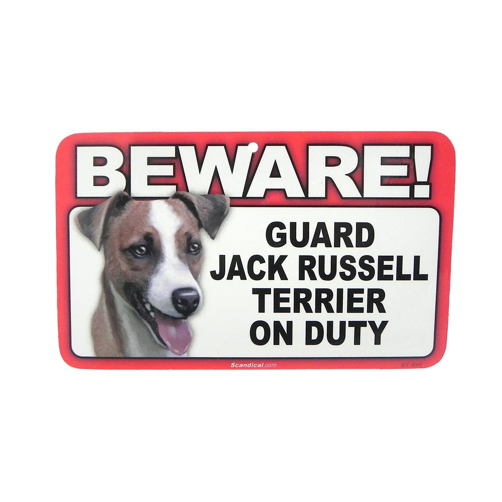 Sign Guard Jack Russell On Duty 8 x 4.75 inch Laminated