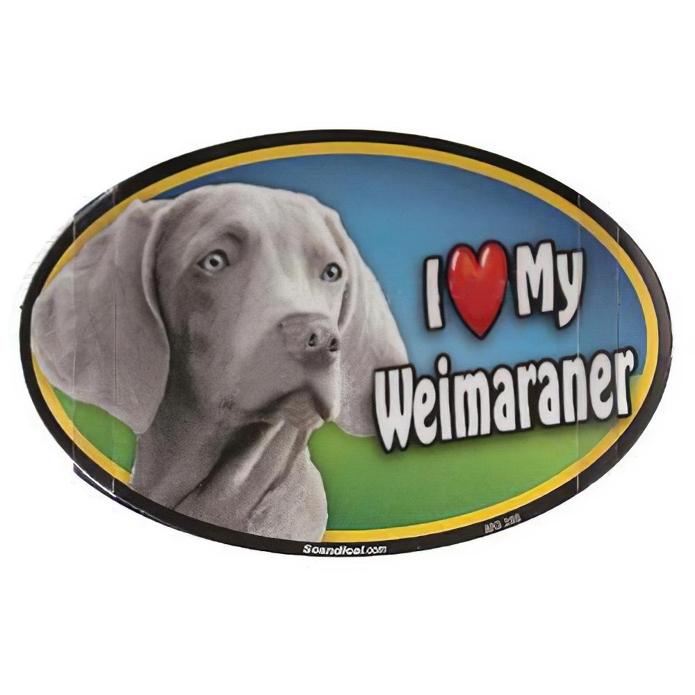 Dog Breed Image Magnet Oval Weimaraner