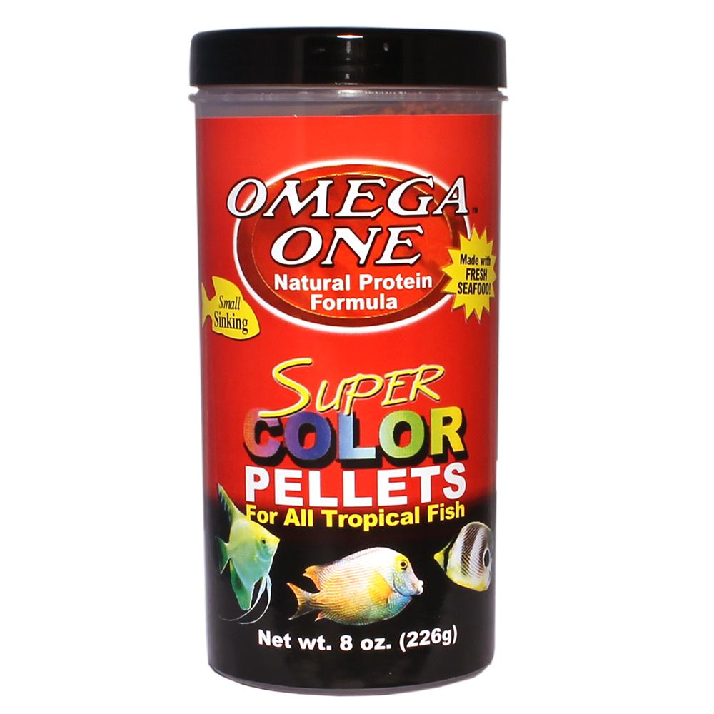 Omega One Super Color Small Sinking Pellets Fish Food 8-oz